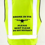 Drone Pilot Safety Vest Drone Image Drone in Use Close Up