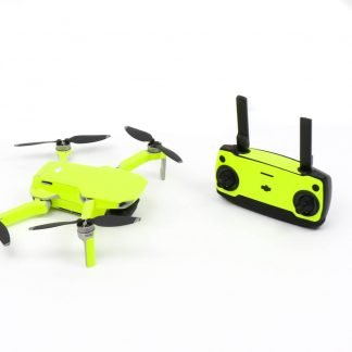 Neon Fluoro Yellow Drone Skin Wrap Stickers for DJI Mavic Mini Front Facing with Remote