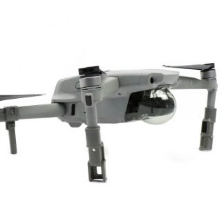 Elevated Landing Legs for the DJI Mavic Air 2 on the drone from side angle