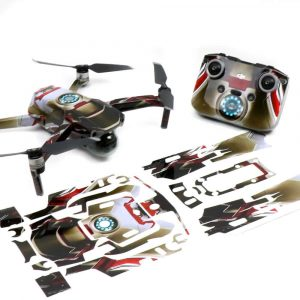 IronMan Drone Skin Wrap Decal Stickers for DJI Mavic Air 2 Applied to Drone and Remote with Print Out