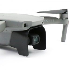 Lens Sunhood for DJI Mavic Air 2 shown on drone from front angle