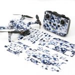 Crystal Skull Drone Skin Wrap Stickers for DJI Mini 2 Front View with Print Out