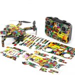 Graffiti Drone Skin Wrap Stickers for DJI Mini 2 Front View with Print Out