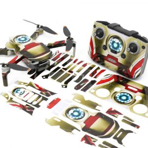 IronMan Drone Skin Wrap Stickers for DJI Mini 2 Front View with PrintOut