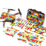 Lego Drone Skin Wrap Stickers for DJI Mini 2 Front View with PrintOut