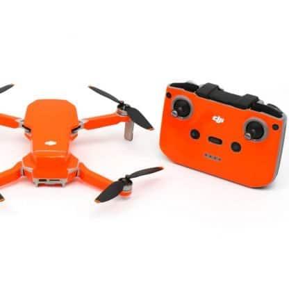 Neon Fluoro Orange Drone Skin Wrap Stickers for DJI Mini 2 Rear View